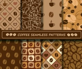 Coffee vector pattern set 03