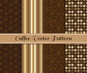 Coffee vector pattern set 05