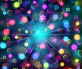 Colored light circles background vectors