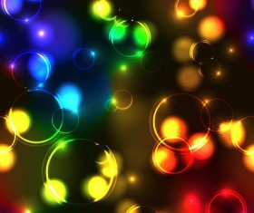 Colored transparent bubbles background vectors