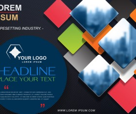 Company brochure cover modern design vector 03
