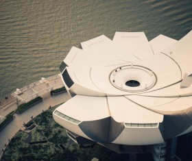 Contemporary architecture on sea view Stock Photo