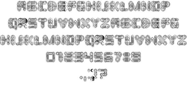 Cosmology font