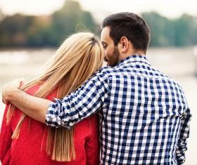 Couple whisper Stock Photo