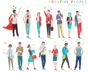 Creative people business design vector 01