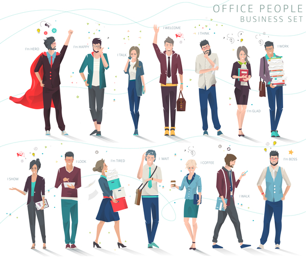 Creative people business design vector 02