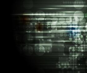 Dark glowing tech background vector