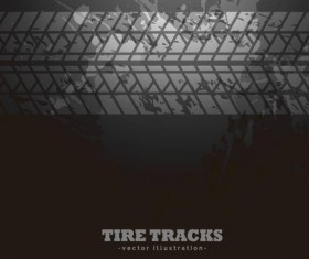 Dark trie track vector background