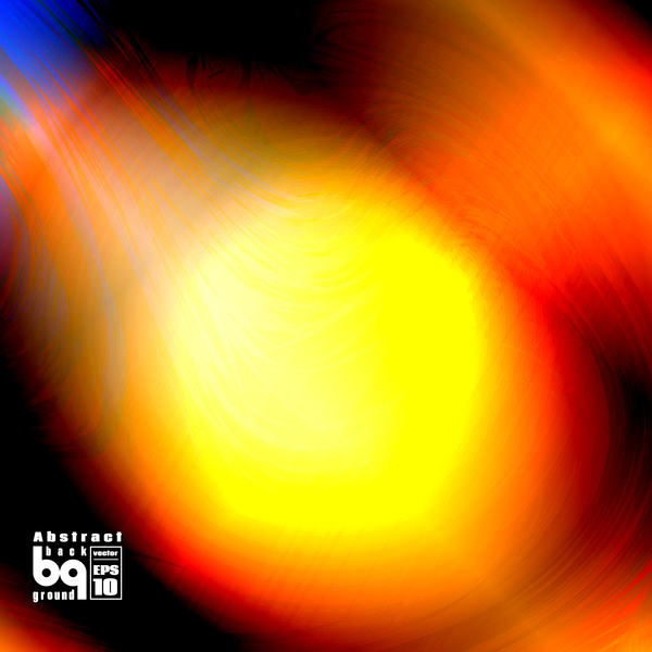 Dazzling colored light blurs background vector 04