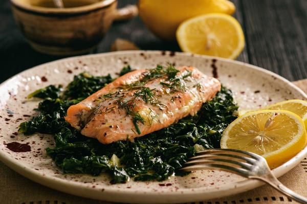 Delicious fish dish Stock Photo 01