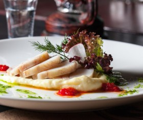 Delicious fish dish Stock Photo 02