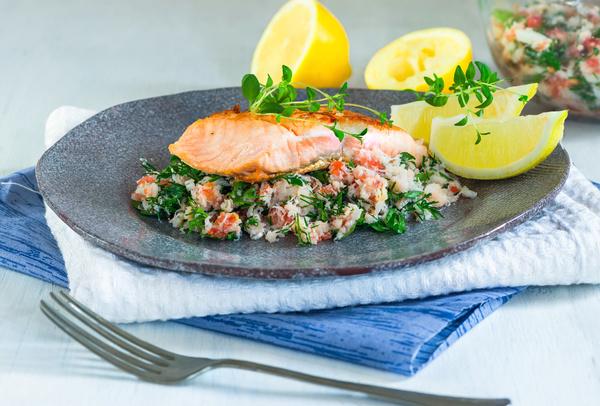 Delicious fish dish Stock Photo 03