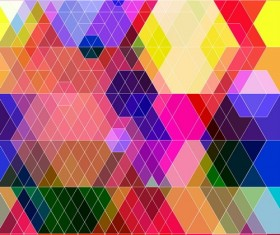 Dense triangle backgrounds vectors 01