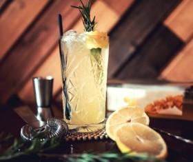 Dry Martini cocktail Stock Photo