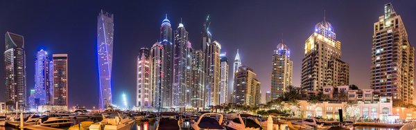 Dubai modern city night scene Stock Photo 03