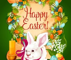 Easter poster template design vector 01
