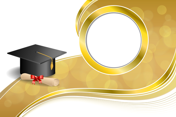 education diploma with graduation cap and abstract
