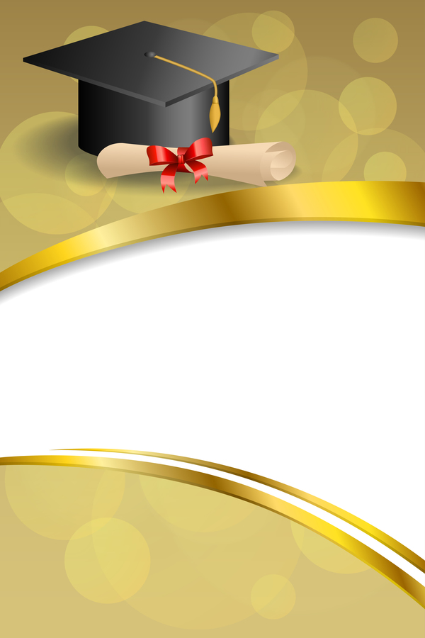 Education Diploma With Graduation Cap And Abstract ...