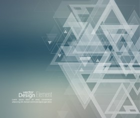Elegant triangle abstract backgrounds vector 15