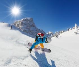 Exciting alpine skiing Stock Photo 01