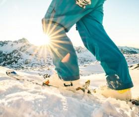 Exciting alpine skiing Stock Photo 04