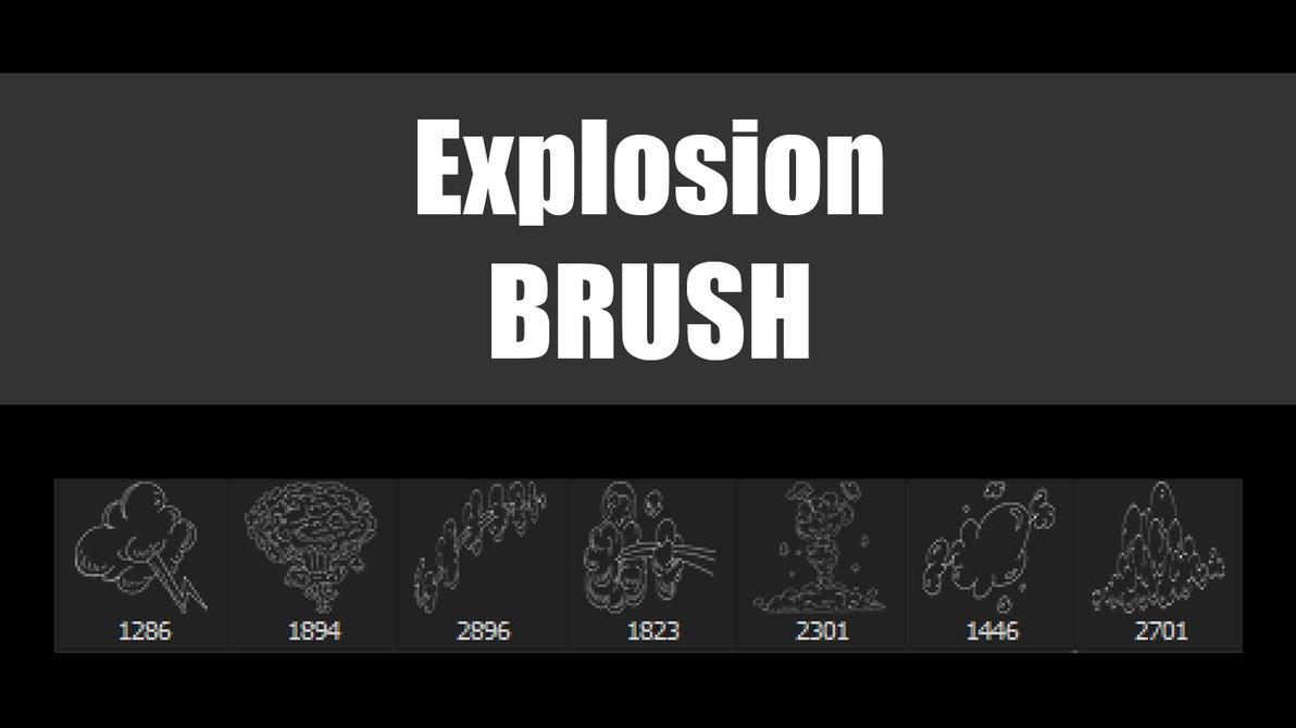 Explosion Photoshop Brushes