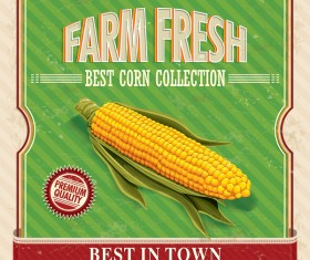 Farm fresh poster vector