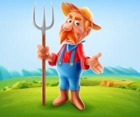 Farmer vector illustration 01