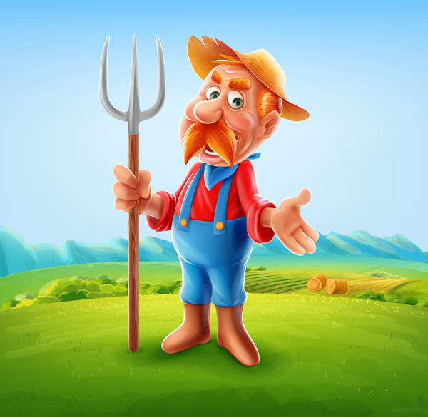 Farmer vector illustration 01