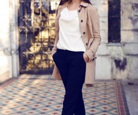 Fashion beautiful and charming girl Stock Photo