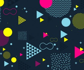 Fashion geometric shapes combination backgrounds vector 01