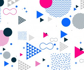 Fashion geometric shapes combination backgrounds vector 02