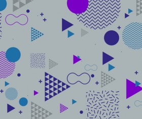 Fashion geometric shapes combination backgrounds vector 04