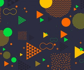 Fashion geometric shapes combination backgrounds vector 05