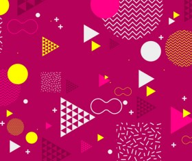 Fashion geometric shapes combination backgrounds vector 06