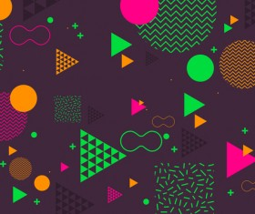 Fashion geometric shapes combination backgrounds vector 08