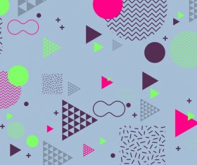 Fashion geometric shapes combination backgrounds vector 09