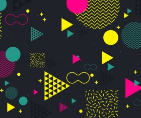 Fashion geometric shapes combination backgrounds vector 10