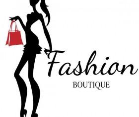 Fashion girl boutique vector design 02