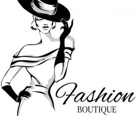 Fashion girl boutique vector design 04