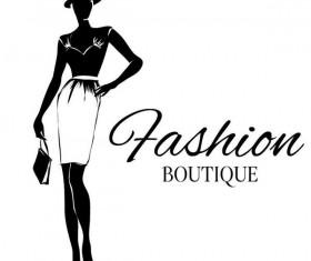 Fashion girl boutique vector design 06