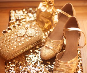 Fashion luxury ladies accessories and shoes Stock Photo 01