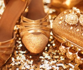Fashion luxury ladies accessories and shoes Stock Photo 02