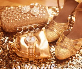 Fashion luxury ladies accessories and shoes Stock Photo 04