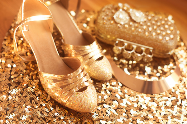 Golden. Shoes. Womens accessories. Luxury fashion  jewelry. Expe
