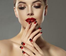 Fashion make-up female model Stock Photo 01
