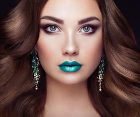 Fashion make-up female model Stock Photo 02