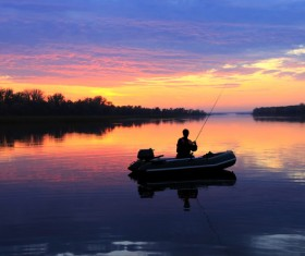 Fishing enthusiasts Stock Photo