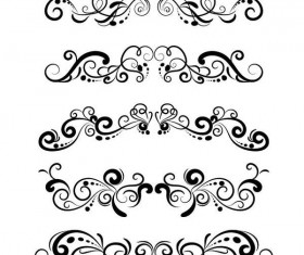 Floral decor ornament design vector