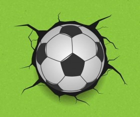 Football with green wall vector